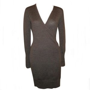 LOFT Merino Wool Faux Wrap Dress